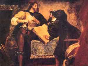 delacroix mephistopheles in Faust's study