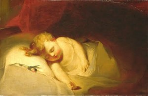 Sully Child Asleep (The Rosebud)