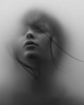 face in fog