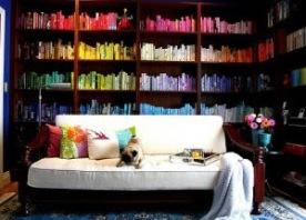08colourful bookshelves