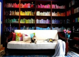 08colourful bookshelves
